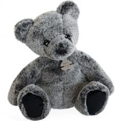 Peluche gris anthracite Ours Mousse (40 cm)