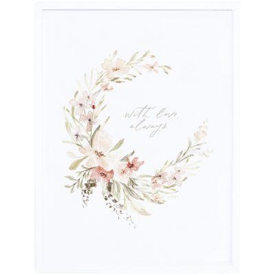 Affiche encadrée couronne de fleurs Appoline (30 x 40 cm)  par Lilipinso
