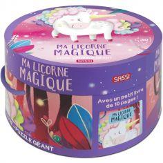 Livre et puzzle géant Ma licorne magique