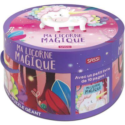 Livre et puzzle géant Ma licorne magique Sassi Junior