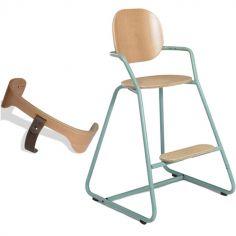 Chaise haute Tibu Aruba vert d'eau avec ceinture