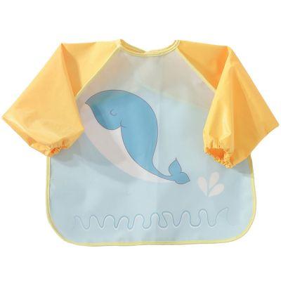 Bavoir à manches plastifié Baleine  par Trois Kilos Sept