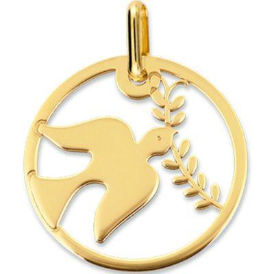 Médaille Colombe ajourée (or jaune 375°)  par Lucas Lucor