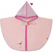 Poncho de bain Tonkinoise rose personnalisable (110 cm) - L'oiseau bateau
