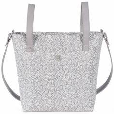 Petit sac  à langer à anses Flower mellow gris