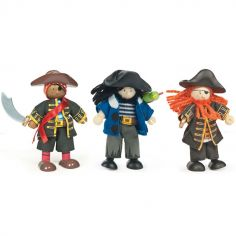 Lot de 3 figurines pirates (9 cm)