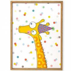Affiche encadrée Girafe (30 x 40 cm)