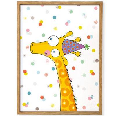 Affiche encadrée Girafe (30 x 40 cm)  par Série-Golo