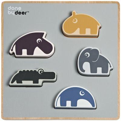 Puzzle à encastrement en bois Deer friends (5 pièces)  par Done by Deer