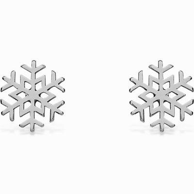 Boucles d'oreilles Life flocon (argent 925°)  par Coquine