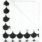 Couverture bébé Copenhagen Ecaille noire (70 x 80 cm) - Nobodinoz