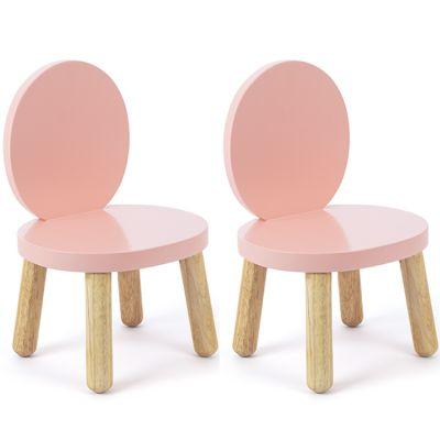 Lot de 2 petites chaises Ovaline roses Pioupiou et Merveilles