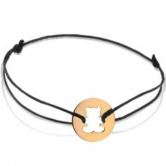 Bracelet cordon enfant Ourson (or rose 750°)