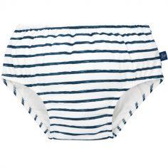 Maillot de bain couche rayé bleu (12 mois)
