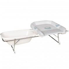 Combiné table à langer baignoire et corbeille Varix mouton