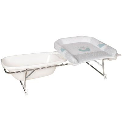 combin table langer baignoire et corbeille varix mouton. Black Bedroom Furniture Sets. Home Design Ideas