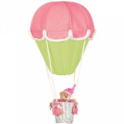 Lampe montgolfière rose et vert  par Domiva