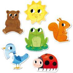 Lot de 6 mini puzzles Form (2 pièces)
