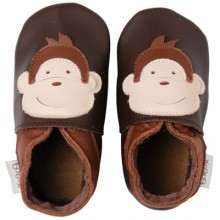 Chaussons bébé cuir Soft soles singe (9-15 mois)  par Bobux