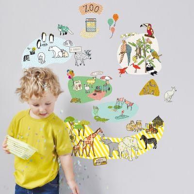 Stickers mural Zoo (70 x 60 cm)  par Mimi'lou