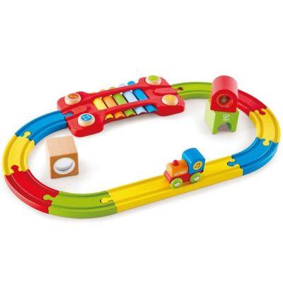 Train en bois sensoriel (14 pièces)  par Hape