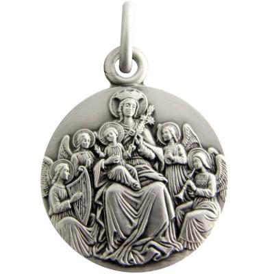 Médaille Vierge aux Anges 18 mm (argent 925°) Martineau