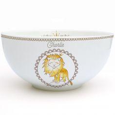 Bol en porcelaine Lion (personnalisable)