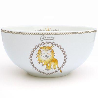Bol en porcelaine Lion (personnalisable)  par Gaëlle Duval
