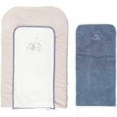 Matelas à langer avec 2 serviettes Bao et Wapi (45 x 70 cm) - Noukie's