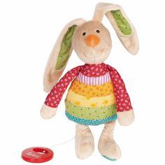 Peluche musicale lapin Rainbow Rabbit (27 cm)
