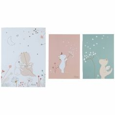 Lot de 3 affiches Lina & Joy (30 x 40 cm et 21 x 30 cm)