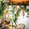 Décoration à suspendre singe en bois doré Jungle Fever (20 x 39 cm)  par Arty Fêtes Factory