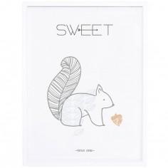 Affiche Nordic encadrée écureuil Sweet (30 x 40 cm)