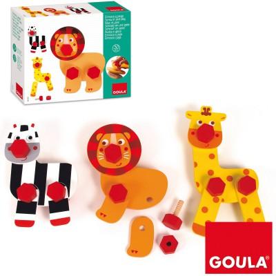 Animaux à construire Visse et joue  par Goula