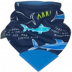 Bavoir bandana requins avec embout de dentition
