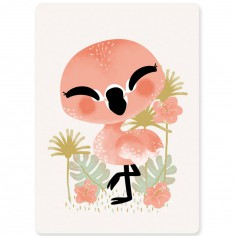 Carte A6 les Animignons le flamant rose