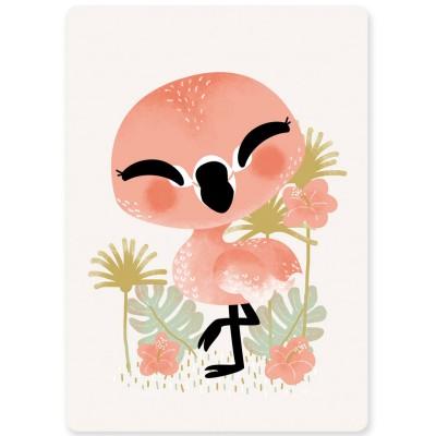 Carte A6 les Animignons le flamant rose  par Kanzilue