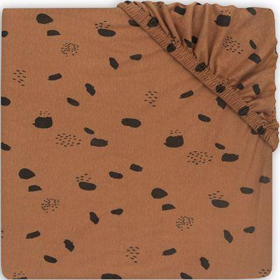 Drap housse en jersey pour matelas de parc Spot caramel (75 x 95 cm)  par Jollein