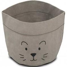 Panier de toilette Little lion gris