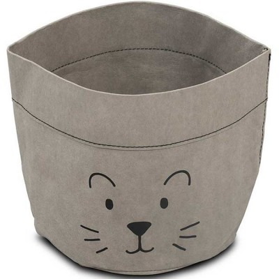 Panier de toilette Little lion gris