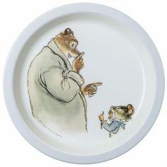 Assiette plate Ernest et Célestine bleu