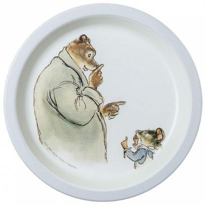 Assiette plate Ernest et Célestine bleu Petit Jour Paris