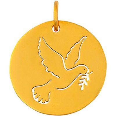 Médaille colombe ajourée (or jaune 18 carats)  par Maison La Couronne