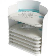 Lot de 25 sachets de conservation du lait et bac de stockage (150 ml)