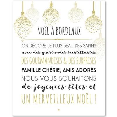 Tableau Noël blanc personnalisable (33 x 41 cm)