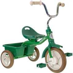 Tricycle Transporter avec panier arrière vert