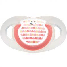 Lot de 2 sucettes physiologiques Maternity Dental safe en silicone Little valleys rouge (0-6 mois)