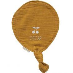Doudou ballon Jaune moutarde (personnalisable)