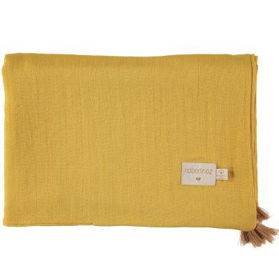Couverture d'été bébé Farniente yellow (70 x 100 cm)  par Nobodinoz