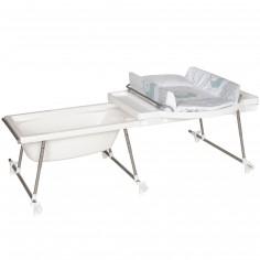 Combiné table à langer baignoire Aqualino mouton